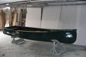 Canoe din fibra de sticla de vanzare lungime 4.50 m