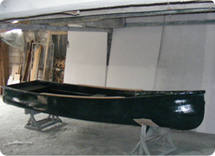Canoe din fibra lungime 4,50