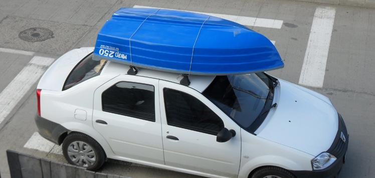 Barca din fibra de pus pe masina